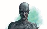 A bald humanoid with grayish skin.